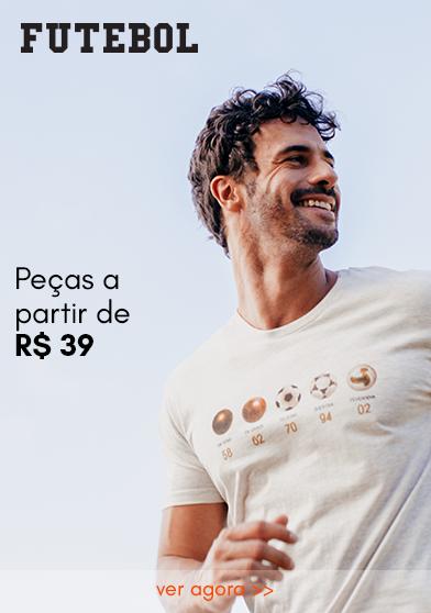 T-SHIRTS A PARTIR DE R$55
