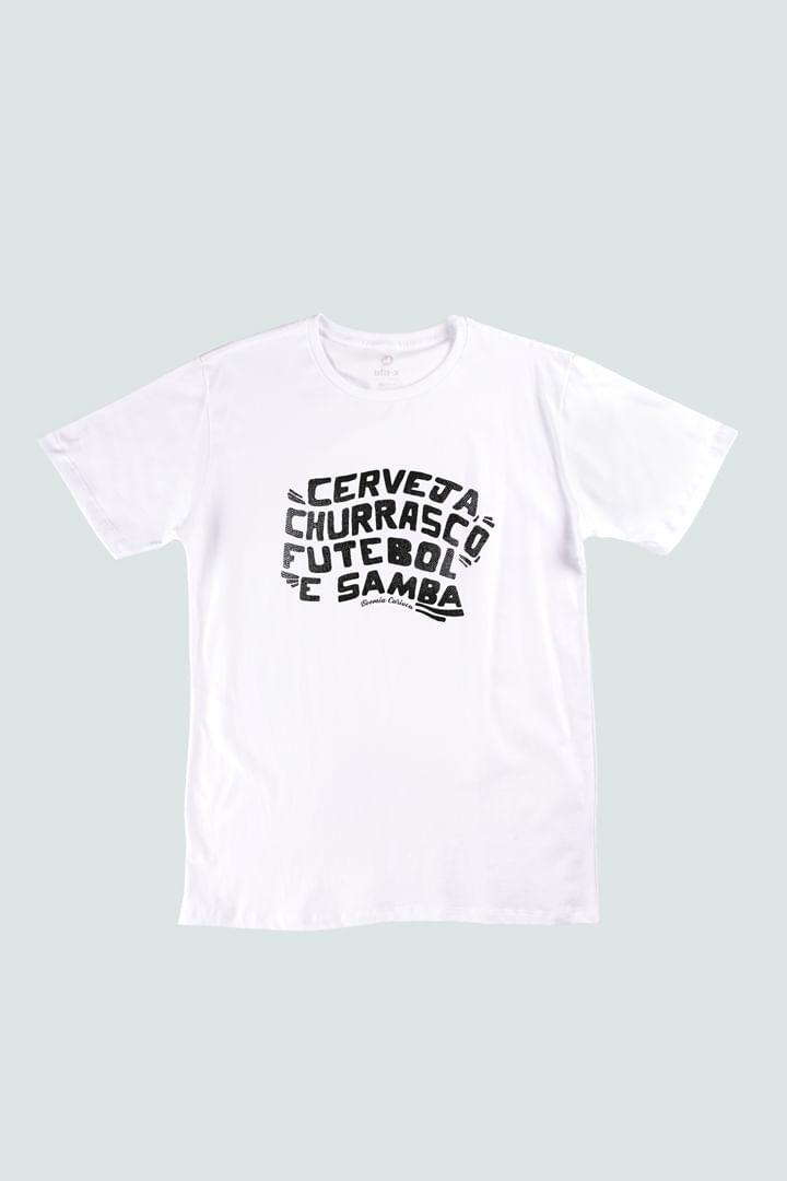 Camiseta Churrasco, Cerveja e Futebol