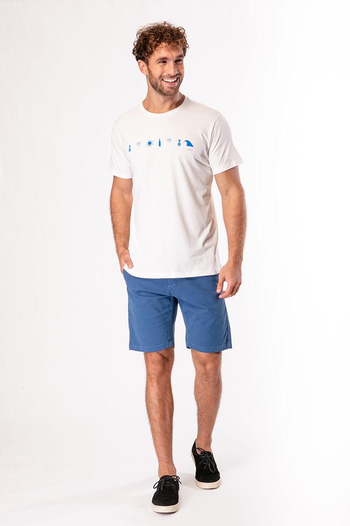 Camiseta Ícones Praia Faixa